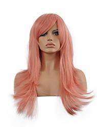 peruca cosplay inspirado pela arte espada asuna on-line yuuki cabelo rosa peruca sintética.