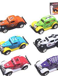 Dibang - liga de brinquedos educativos para crianças puxar de volta modelo de carro de brinquedo carros clássicos (6 uppcs mistos)