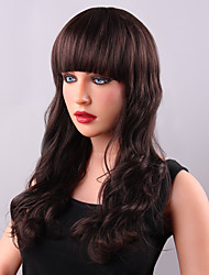 Stylish Long Shaggy Deep Wave Human Virgin Remy Hand Tied-Top Capless Woman's Hair Wig