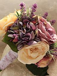 Wedding Flowers Free-form Handmade Peonies /Lavenders Bridal Bouquets