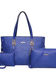 Damen PU Alltag Umhängetasche / Bag Sets Blau / Gold / Schwarz / Mehrfarbig