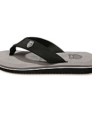 Men's Slippers & Flip-Flops Summer Comfort Leatherette Casual Flat Heel Gray Yellow Brown