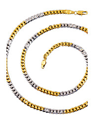 The New Fshion Men's Alloy / Gold Plated Necklace Chain / Wedding / Party / Daily / Casual / Sports / 60cm / 4.5mm