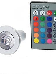 3W GU10 Ampoules Globe LED A50 1 LED Haute Puissance 100-200 lm RVB Commandée à Distance AC 85-265 V 1 pièce