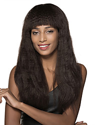 Corn Silk long Remy Human Hair Capless Wig