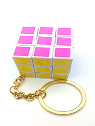 Smooth Speed Cube 3*3*3 With Keychain Magic Cube White Plastic
