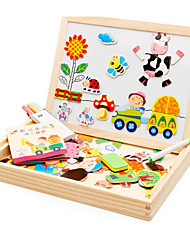 Wooden Balls of a New Magnetic Puzzle, Sketchpad Spell Spell, Children's Early Education, Double-Sided Svailable