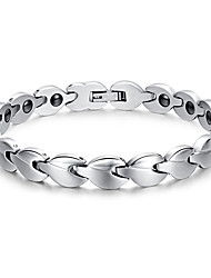 Unisex Jewelry Health Care Silver Stainless Steel Magnetic Therapy Bracelet Fashion  Jewelry Christmas Gifts