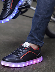 Feminino Masculino Para Meninos Para Meninas UnissexBailarina Inovador Light Up Shoes-Rasteiro-Preto Vermelho Branco-Courino-Casamento