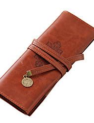 Стильная сумка из искуственной кожи с принтом (коричневый)