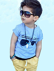 Boy's  Cotton Summer Fashion Cartoon Printing Tee  Leisure Pants Two-Piece Set