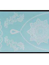Lovely HENNA Lace Big White Face Sticker 15