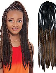 cabelo de crochê trança macio dreadlock havana mambo torção trança cor ombre preto de 20 polegadas