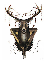 8pcs mulheres homens DIY projeto da etiqueta corpo temporário manga do braço arte da tatuagem criaturas míticas deus renas tatuagem