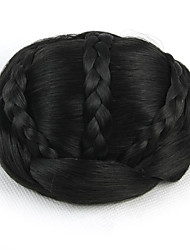 Kinky Curly Black Bride Weave Human Hair Capless Wigs Chignons 2