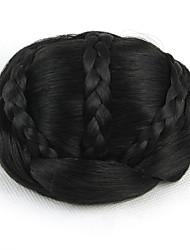 Kinky кудрявый черный невеста переплетения человеческих волос монолитным парики шиньоны 2