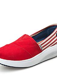 Women's Shoes EU35-EU40 Casual/Travel/Fitness Fashion Fabric Leather Sport Casual Slip-on Shoes