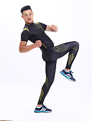 Running Tops / Bottoms / Clothing Sets/Suits / Base Layers / Compression Clothing / Leggings / Tracksuit Women's / Men's Short Sleeve