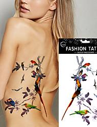5pcs водонепроницаемый шаблон татуировки наклейки сороки временный орган стикер искусства поддельные татуировки