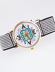 Ladies' Casual Watch Korean Fashion Diamond Dial Quartz Watch Rope Watch Strap Canvas Belt Geneva