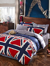 Best Sell Flag Bedding Set High Quality Bed Cover Unique Design Bed Sheet Fashion drap de lit Bedclothes 4Pcs Queen