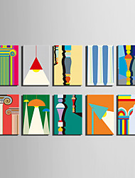 E-HOME® Stretched Canvas Art Color Building Elements Series Decoration Painting MINI SIZE One Pcs