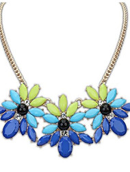 Women's Pendant Necklaces Resin Rhinestone Alloy Fashion White Yellow Red Blue Jewelry Wedding Party Daily Casual 1pc