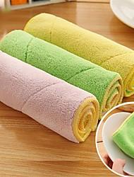 pack 5pc couleur aléatoire polyester nettoyage cuisine tissu serviette propre