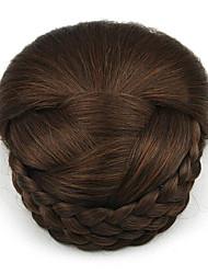 crépus chignons bouclés capless mariée europe brun cheveux humains perruques sp-159 2009