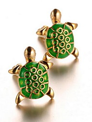 Men's Fashion Turtle Design Gold Alloy French Shirt Cufflinks (1-Pair)