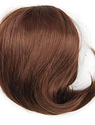 peruca marrom contrato cordão 5 cm de comprimento cor sintética crespo encaracolado alta temperatura 7034