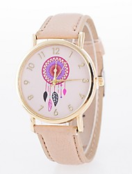 Ladies' Watch The New Printing Belt Fashion Retro Flower Dial Quartz Watch
