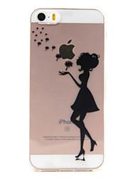 Pour Coque iPhone 5 Transparente Motif Coque Coque Arrière Coque Jeux Avec Logo Apple Flexible PUT pour AppleiPhone 7 Plus iPhone 7