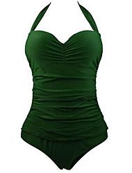 Summer Retro Female's Swimwear Green