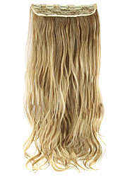 Length Golden 60CM High Hemperature Wire Wig Hair Extension Synthetic Hair