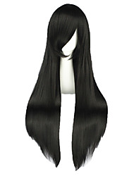 Perruques de Cosplay Shakugan no Shana Shana Noir Long Anime Perruques de Cosplay 80 CM Fibre résistante à la chaleur Masculin / Féminin