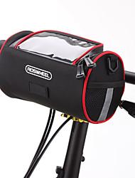 ROSWHEEL® Bolsa de Bicicleta 2.8LBolsa para Guidão de Bicicleta / Bolsa de OmbroZíper á Prova-de-Água / Á Prova de Humidade / Camurça de