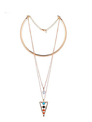 LGSP Women's Alloy Necklace  Daily Cubic Zirconia -61161049