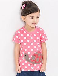 Girl's Pink Tee,Print Cotton Summer