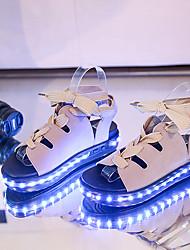 Homme-Extérieure Bureau & Travail Décontracté-Noir Jaune Beige-Talon Plat-Light Up ChaussuresSimilicuir