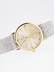 Women's Fashion Watch Casual Watch Quartz Casual Watch Imitation Diamond Fabric Band Multi-Colored Brand
