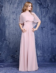 A-line Mother of the Bride Dress Floor-length Chiffon with