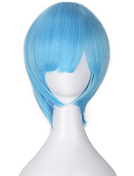 Cosplay Wigs Cosplay Cosplay Blue Short Anime Cosplay Wigs 32 CM Heat Resistant Fiber Female