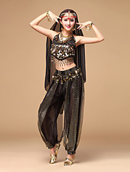 Shall We Belly Dance Outfits Women Performance Chiffon Sequins Dance Costumes