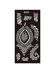 fleur aérographe henné pochoir impression tatouage art corporel diy 1pc autocollant de tatouage temporaire indolore S229