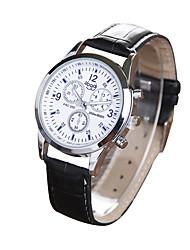 Men's Fashion Belt Watch Three Eye Six Needle Watches Quartz Watches Cool Watch Unique Watch