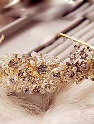 Women's Crystal / Brass / Alloy / Imitation Pearl Headpiece-Wedding / Special Occasion / Outdoor Headbands 1 Piece