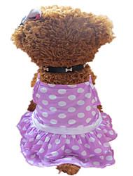 Cães Vestidos Púrpura Verão Fantasias