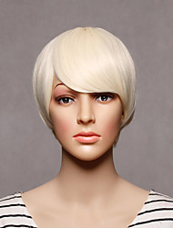 Capless Short Synthetic Blonde Color Straight Synthetic Womens Wigs