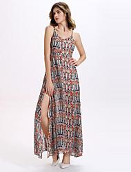 Women's Sexy  Strap Chiffon  Irregular Maxi Dresses